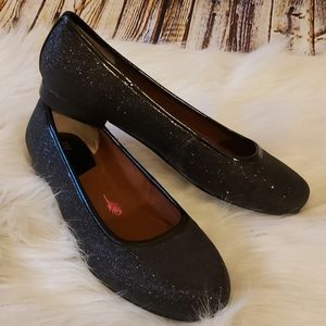 NWOB Ros Hommerson Black Sparkle Ballet Flats